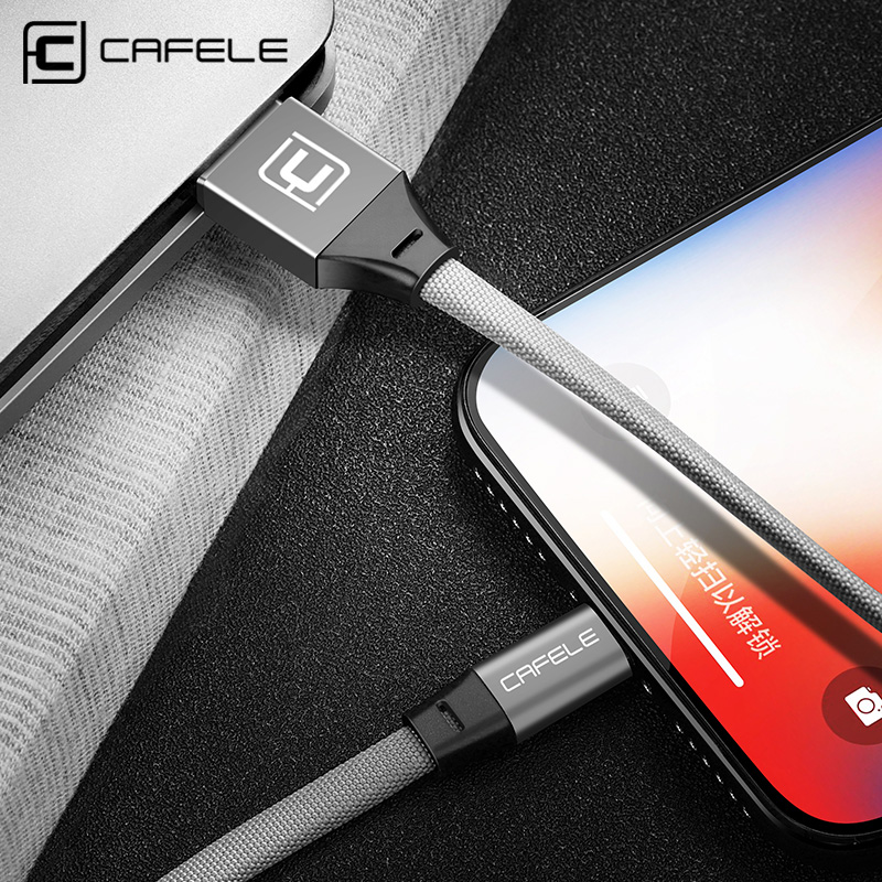 CAFELE USB Cable for iPhone X Xr Xs Max 8 7 6s 6 Plus 5s 5c ipad fast Charging Data Sync Cables line support for Apple IOS 12 11|cable usb usb|usb usb cable|usb cable usb - AliExpress
