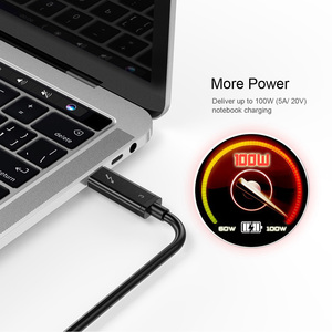 Image 3 - CHOETECH Thunderbolt 3 câble 40Gbps 100W Support de charge 5K UHD affichage 4K 60HZ USB Type C câble HDMI pour 2016 2018 Macbook Pro