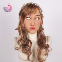 Crossdress Life Elanore angel face realistic silicone female mask Masquerade party Halloween mask doll for cosplay Transgender