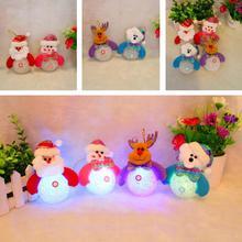 2016 New Snowman Santa Claus Ornament Christmas Tree Decor LED Light Xmas Party Decor