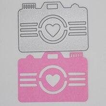 Heart Camera Metal Cutting Dies  Scrapbooking Album Decoration Embossing Paper Card Craft 71*100 mm