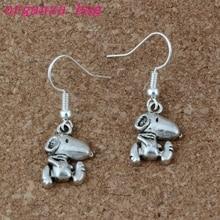 dog Earrings Silver Fish Ear Hook 20pairs/lot Antique Chandelier Jewelry 11.5x34mm A-215e
