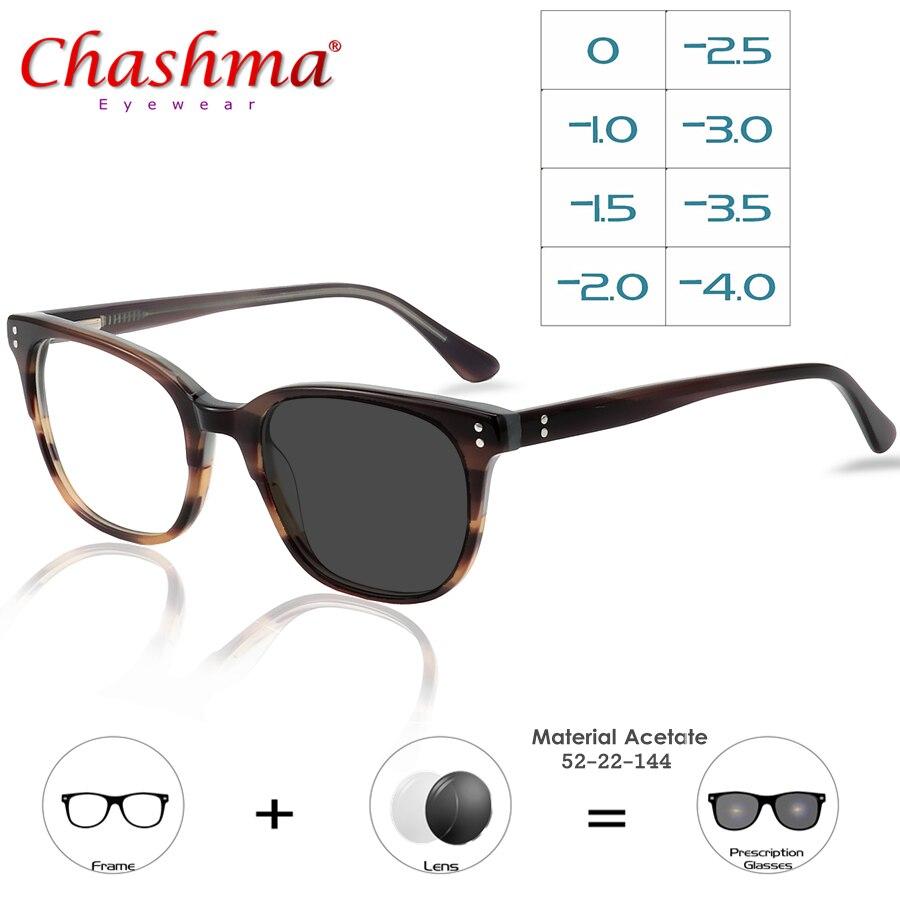 Myopie lunettes de soleil photochromique fini hommes femmes myopie lunettes cadre avec lentille de couleur lunettes de soleil lunettes myopes-1-1.5