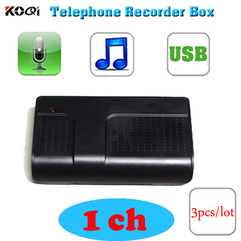 3pcs  Lot Usb 1line Telephone Recording Box Phone Voice