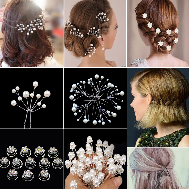 Hair Clips for Women Girls Pearl Hair Barrettes Crystal Flower Hair Ornament for Bride Wedding Styling   Headwear   Hair Accessories
