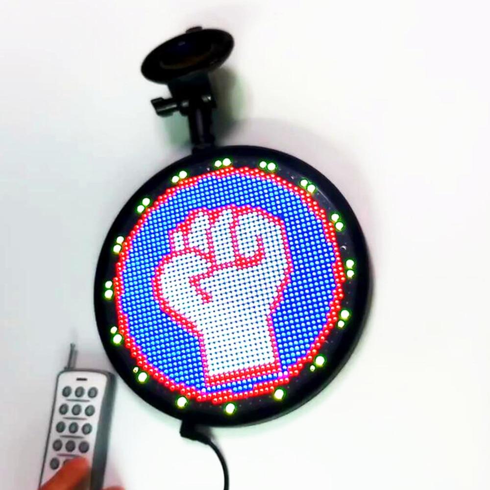 12 V bricolage RGB RF Animation LED signe de voiture Wifi Programmable Uber LED panneau d'affichage personnalisé lueur lumière LED Logo pour les fenêtres de voiture