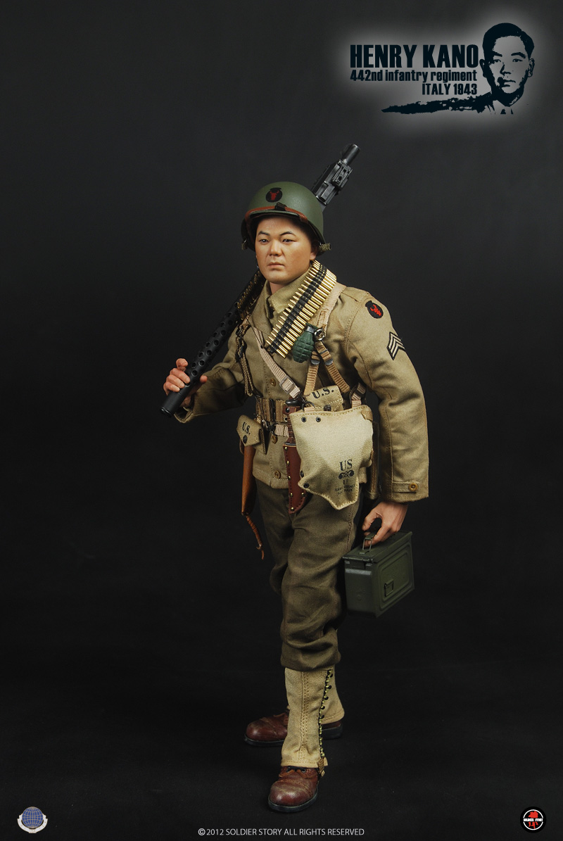1/6 scale figure doll WWII Henry Kano 442nd Infantry Regiment in Italy 1943,12 action figures doll.Collectible figure model toy measles immunity status of children in kano nigeria
