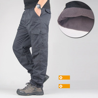 Winter Double Layer Men S Cargo Pants Men Warm Thick Baggy Cotton Outdoors Trousers Casual Army