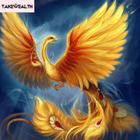 5d Diy Diamond Painting Animal Phoenix Bird Cross Stitch Crystal Square Full Rhinestone Pictures Diamond Embroidery