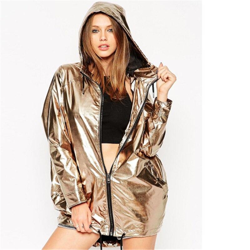 Aliexpress.com : Buy 2017 New Fashion Gold Jacket Women Hooded ...