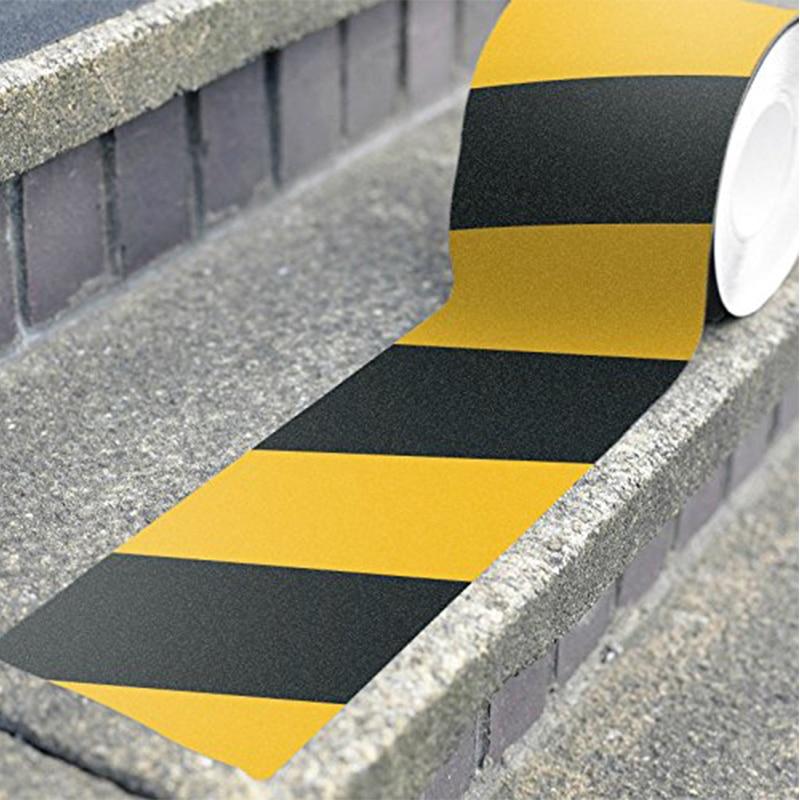 Нескользящая безопасная клейкая лента для захвата, прочная клейкая безопасная Тяговая лента из ПВХ, предупреждающая лента для лестницы, по...