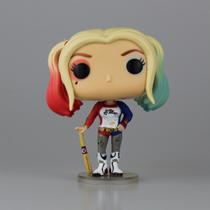Original Box Suicide Squad Harley Quinn PVC 10cm Harly Action Figur - Toy figuriner - Foto 4