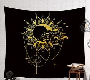 Image 2 - CAMMITEVER Mandala Hippie Moon Sun Dreamcatcher Tapestry Bohemian Beach Towel Polyester Thin Blanket Yoga Shawl Mat Dark Mystery