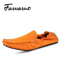 Farvarwo Brand New Mens Suede Loafers Genuine Leather Moccasins Shoe Breathable Male Casual Slip Ons Driving