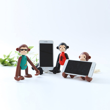 HOOWAN 3D Cute Monkey phone holder Desktop stand decor for tablet Mobile phone Iphone Huawei Xiaomi цена