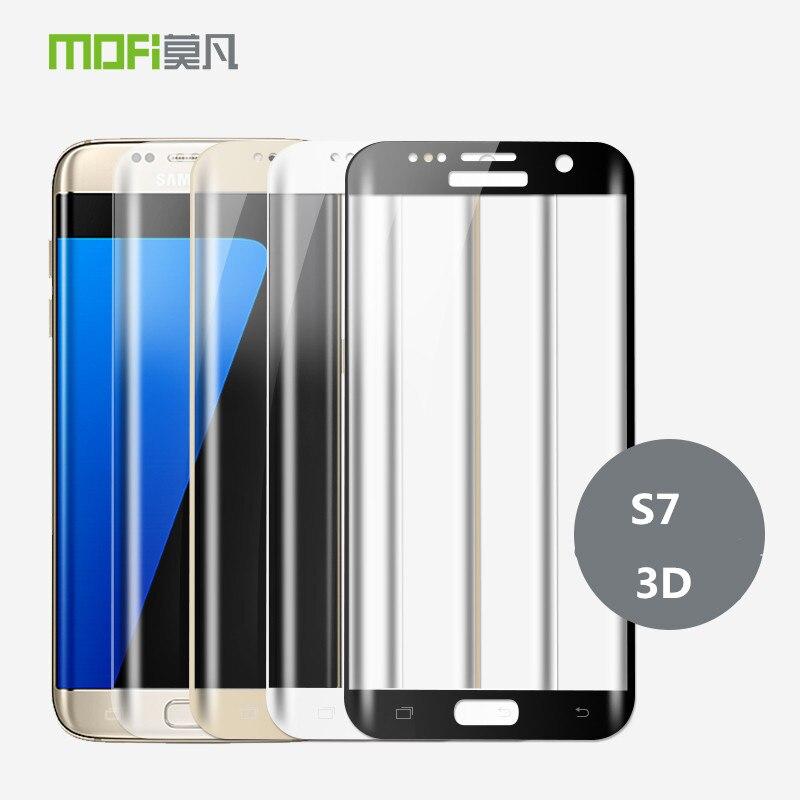 Per Samsung Galaxy S7 Vetro Temperato Originale MOFi 3D Curvo Pieno Protezione Dello Schermo Della Copertura Della Pellicola Protettiva S7 S7 In Vetro Temperato