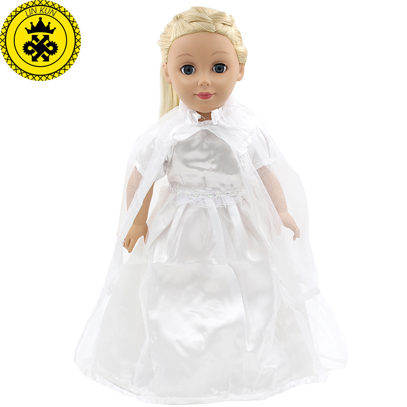 American Girl Doll Clothes White Wedding 18 inch Doll Clothes Madame Alexander Handmade American Girl Doll Clothes 4 Styles D-1 american girl dolls clothing 6 styles elegant color flower print long dress for 18 inch doll clothes accessories girl x 40