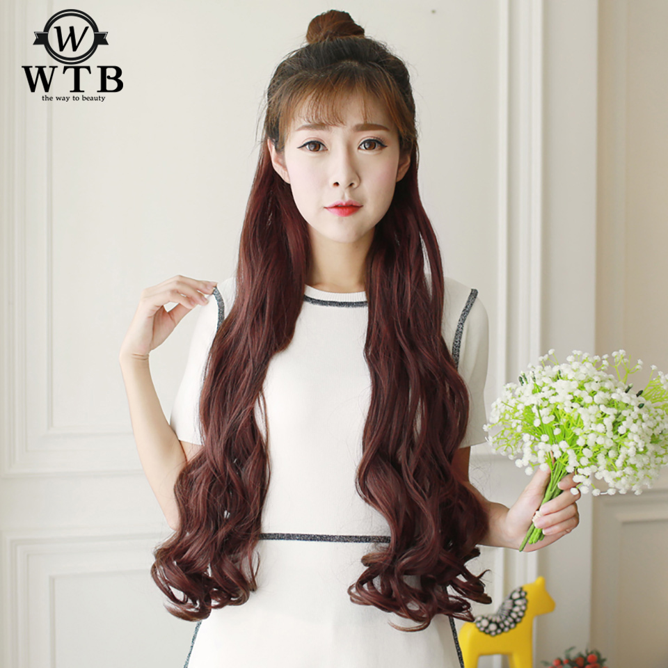 Wtb Hair Heat Resistant Synthetic 3 Sizes 2 Clip Long Curly Hair