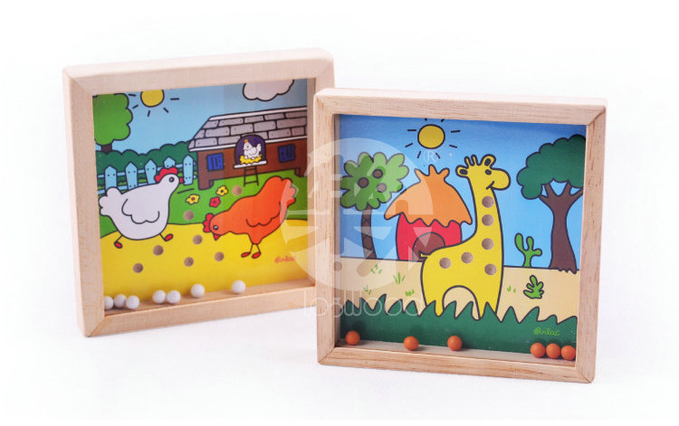 Free shipping Education wooden toys Hands maze game, children balance holding a small maze toys