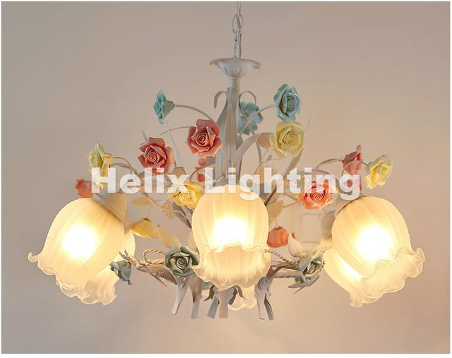 colorful chandelier lighting dining room free shipping floral art deco chandelier lamp lustre light colorful fixture e14 children room