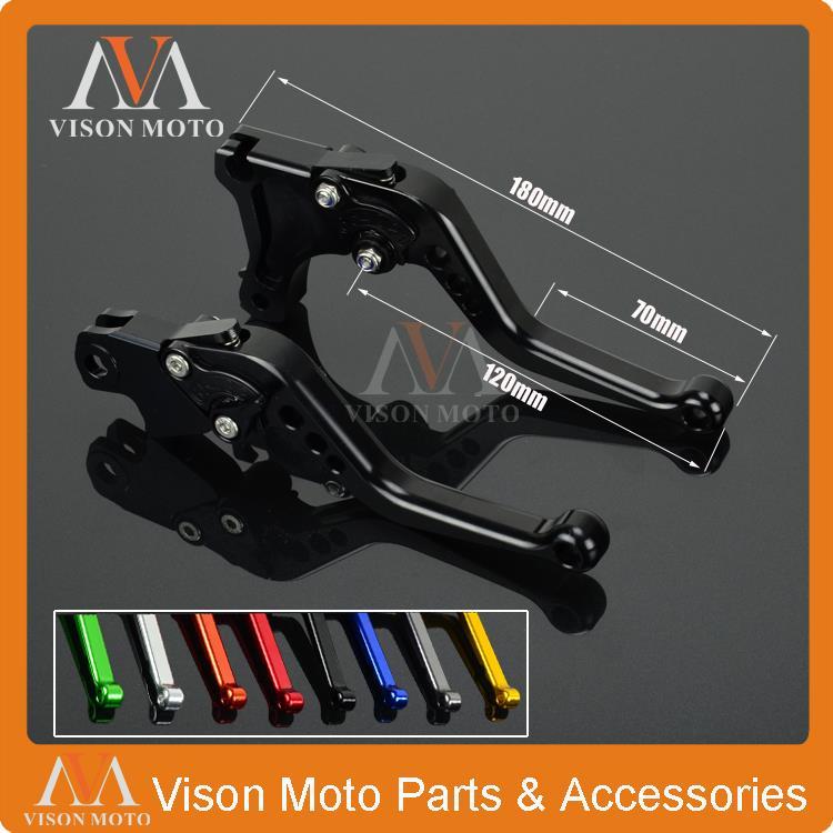 CNC Short Pivot Brake Clutch Levers For Honda VFR VFR1200F VFR1200 2010 2011 2012 2013 billet alu folding adjustable brake clutch levers for motoguzzi griso 850 breva 1100 norge 1200 06 2013 07 08 1200 sport stelvio