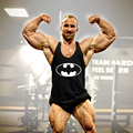 HQ hombres Batman Impresión Raglan tank top Fitness Workout Muscular stringer Culturismo chaleco de Algodón chaleco chaleco de la Aptitud