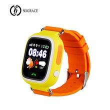 GPS Relógio Q90 Crianças dos miúdos Do Bebê Inteligente com Wifi Tela Sensível Ao Toque de Chamada SOS Localização para Criança Seguro Anti-Lost monitor de PK Q50 Q100 Q80