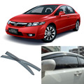 4pcs Blade Side Windows Deflectors Door Sun Visor Shield For Honda Civic 2006-2011