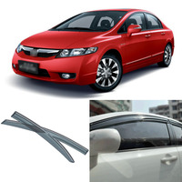4pcs Blade Side Windows Deflectors Door Sun Visor Shield For Honda Civic 2006 2011