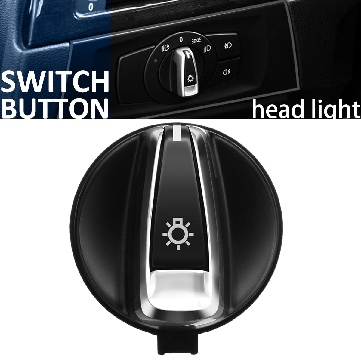 цена на Chrome AUTO Head Light Switch Rotation Button For BMW 1 E88 E82 3 E90 E91 X1 E84 Car Head Light Lamp Switch Control Konb Button