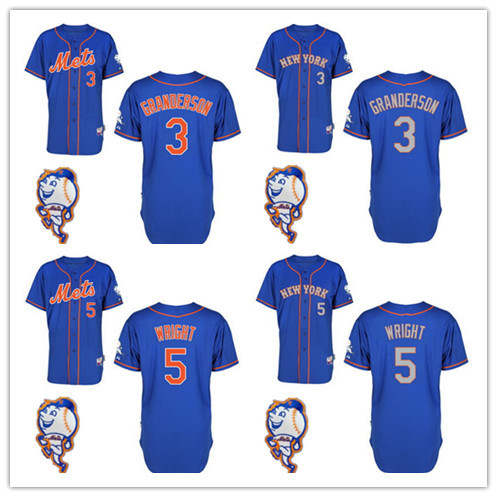 size 40 7c469 b8d2e Top Quality Men's #5 David Wright,3 Curtis Granderson 2015 ...