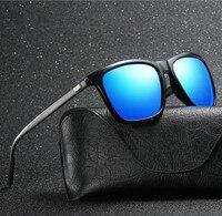 De alumínio e magnésio polarizada óculos de sol para homens luz do caso do quadro para o óculos de sol da moda anti-uv 400 para atacado