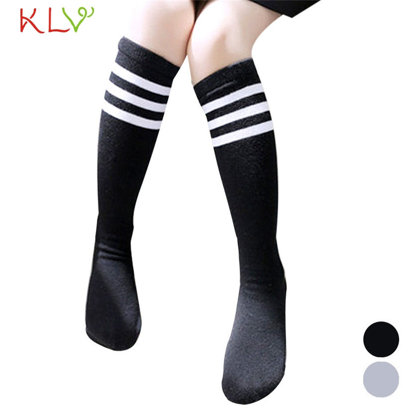 FishSunDay Football Socks Stripe Knee Straight Tube Girls Stockings Set Comfortable to wear breathable Drop shipping Aug11