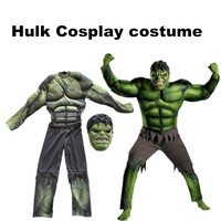 The Avengers Hulk Costume For Boys Cosplay Halloween Cosplay Costume For Kids Carnival Clothes Children Gifts