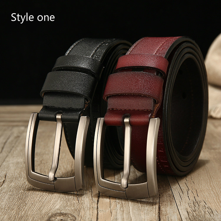 Men's high quality leather belts