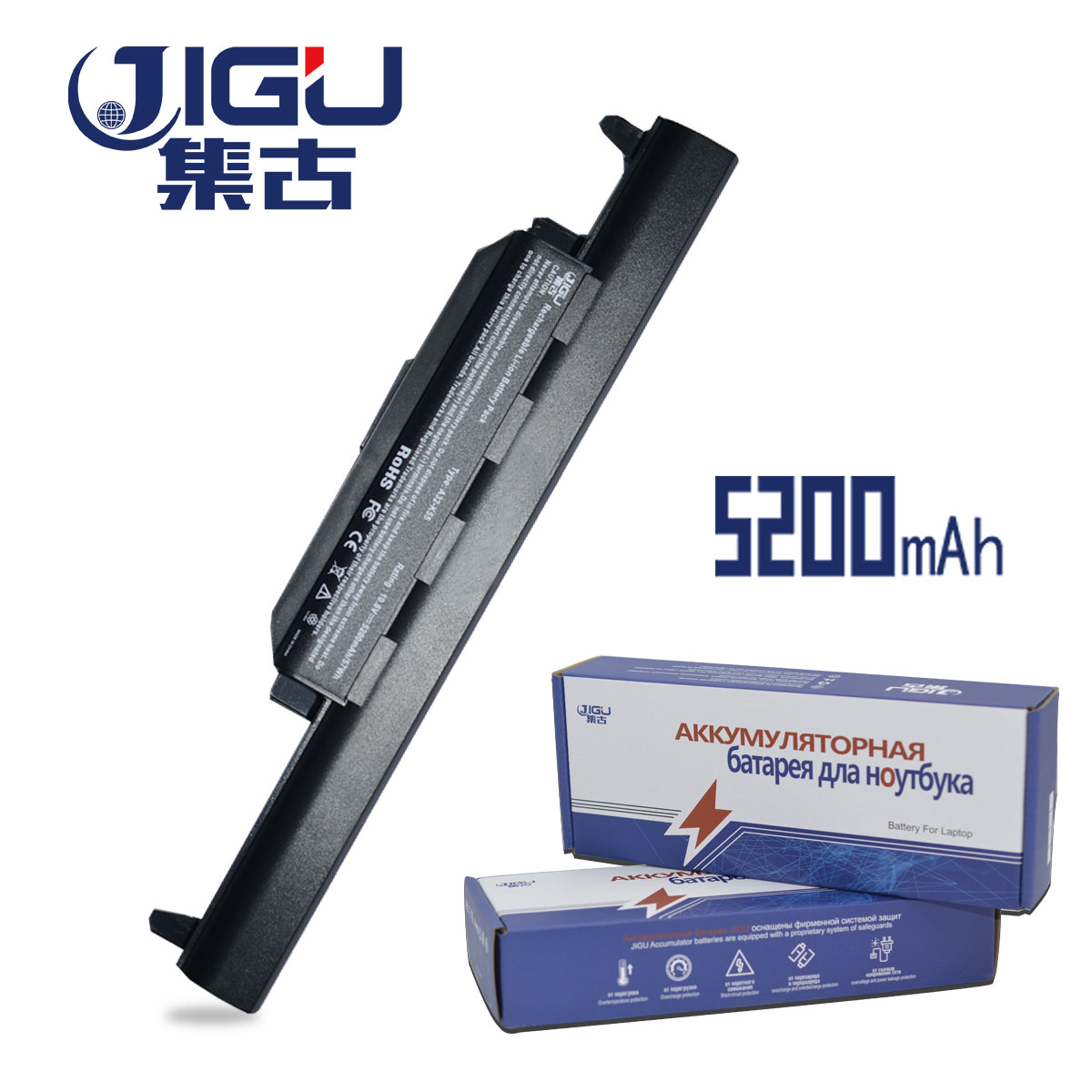 JIGU X55a 6 Cells Laptop Battery For ASUS A32-K55 K55 Series A33-K55 A41-K55 A75A A95 A55D Series K45D K45VM A45A A45DE Battery 6cell laptop battery a32 k55 a33 k55 a41 k55 for asus x55u x55v x55vd x75 x75a x75v x75vd k55
