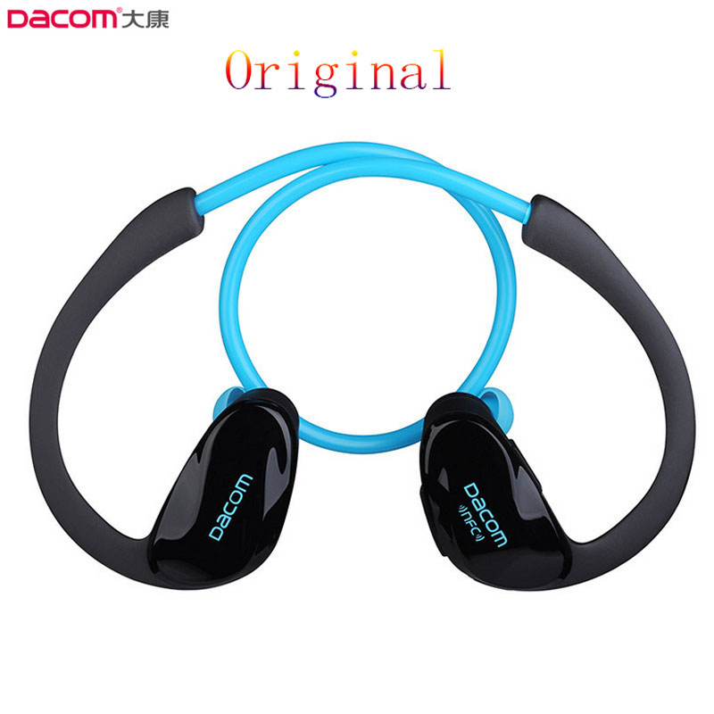 Original Dacom Athlete Bluetooth 4.1 earphone Wireless headphone sports stereo headset with microphone & NFC Free Shipping music free shipping wireless bluetooth headset sports headphone earphone stereo earbuds earpiece with microphone for phone