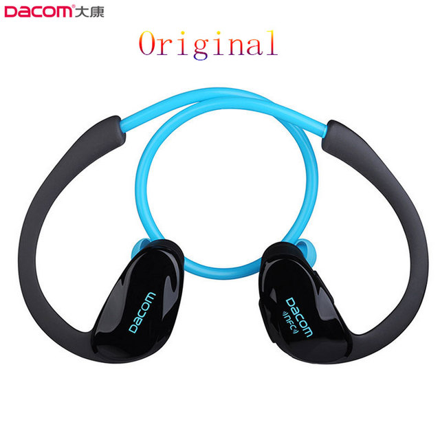 d5acf8a848c Original Dacom Athlete Bluetooth 4.1 earphone Wireless headphone sports  stereo headset with microphone   NFC Free Shipping music