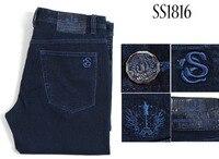 Миллиардер TACE & SHARK джинсы мужчин 2018 Новое поступление Мода Комфорт вышивка крокодиловой кожи джентльмен различных размеров Бесплатная дос