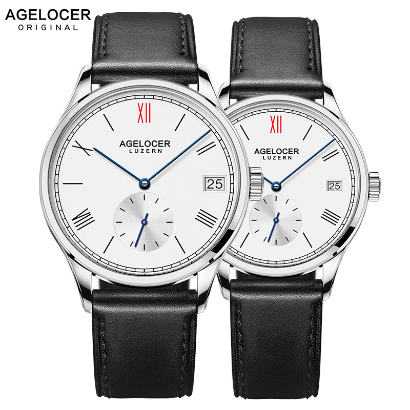 Agelocer Brand Luxury Mechanical Watch Male Female Lovers Watches Women Men Clock Hour Dress Bracelet Watches Relogio MasculinoAgelocer Brand Luxury Mechanical Watch Male Female Lovers Watches Women Men Clock Hour Dress Bracelet Watches Relogio Masculino