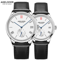 Agelocer Brand Luxury Mechanical Watch Male Female Lovers Watches Women Men Clock Hour Dress Bracelet Watches Relogio Masculino