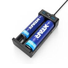 Originale XTAR MC2 PIÙ IL Micro USB Li Ion/IMR/INR/ICR Batteria Caricatore Universale 3.6/3.7V per 18650/10440/14500/14650/16340/18500