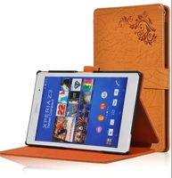 New Arrival Printing Pattern Folio Stand Cover Protective Leather Case For Sony Xperia Z3 Tablet Compact