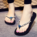 New 2017 fashion platform sandals rhinestone flip flops women sandals Square slippers summer shoes sandalias mujer s298