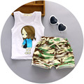 2016 Children 1-4 Year Baby Set Unisex Clothes Character Style Summer Clothing Cotton Short Regular T-Shirt +Pants Casual Sets