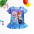 Los niños infantiles de dibujos animados Congelado vestido de princesa de las muchachas del Niño Del bebé Del Desfile Elegante Vestido Infantil de Tul Fiesta Formal ropa 0-4Y