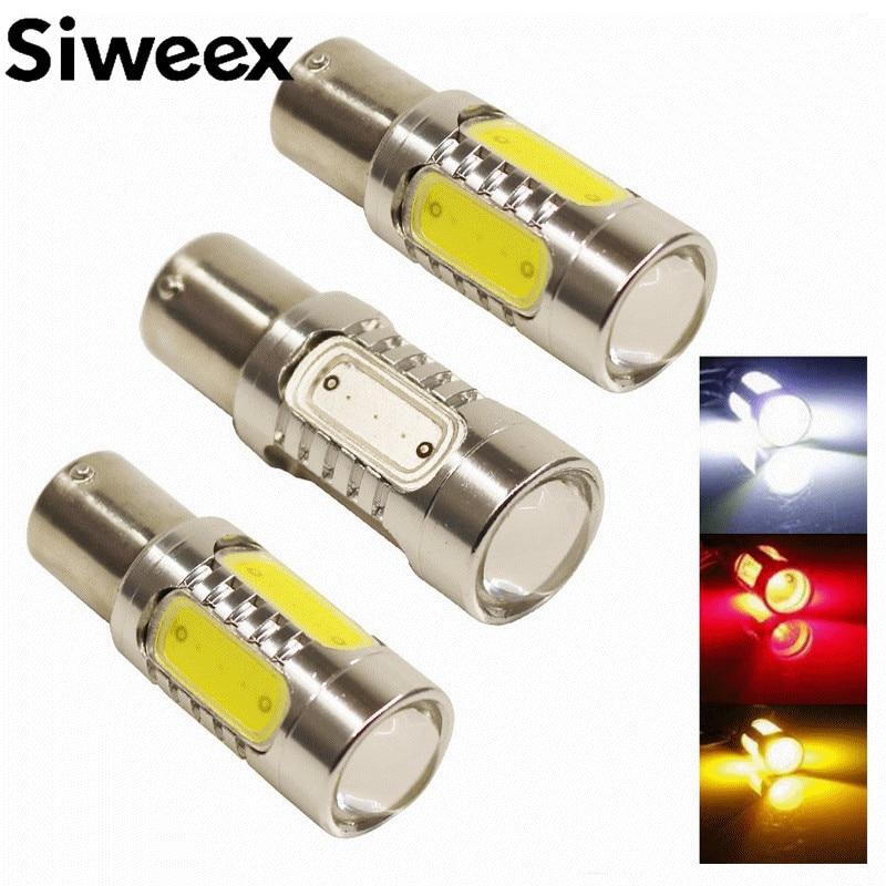 7,5 Вт светодиод cob 1157 Bay15d s25 обратные P21W Резервное копирование стоп сигнала поворота света заменить галогенные лампы автомобилей стайлинг
