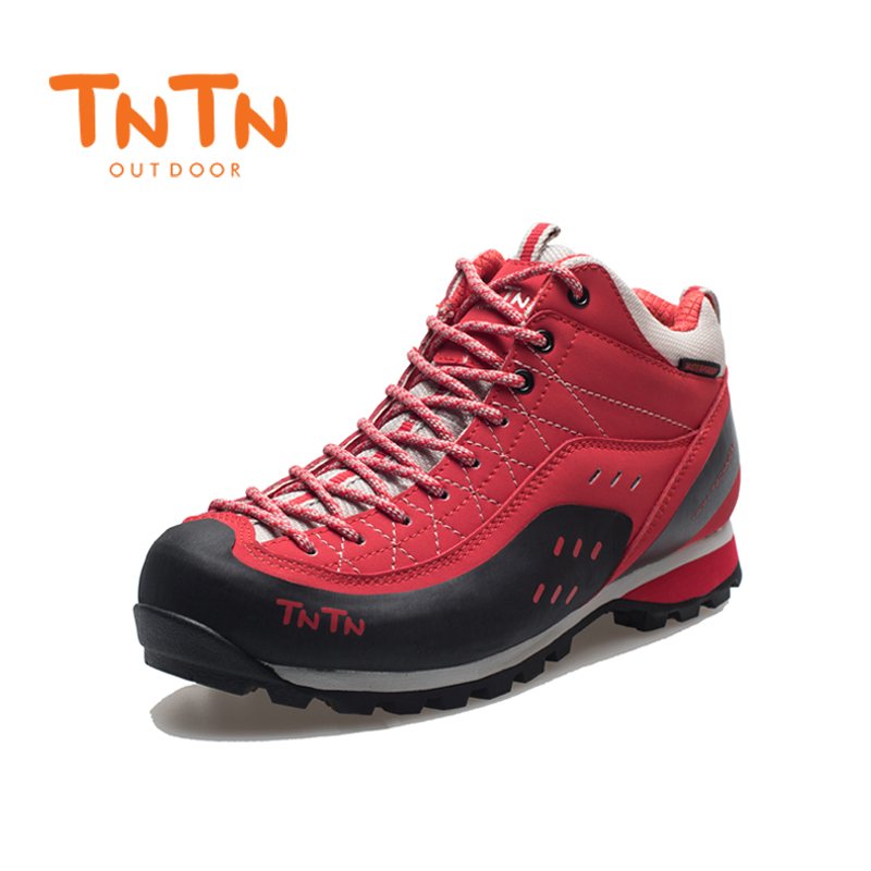 Hiking Shoes Waterproof Cowleather Trekking Womens Climbing Trail Athletic Sports Mountain 100% High Quality Leisure Walking
