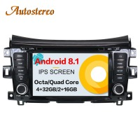 Car GPS Navigation DVD Player Radio pure Android 7.1 8.0 For NISSAN NP300 Navara 2014+ Stereo Headunit SatNav multimedia record