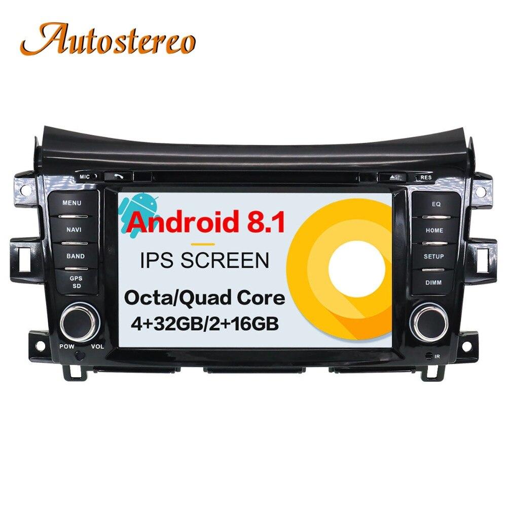 Voiture GPS Navigation Lecteur DVD Radio pur Android 7.1 8.0 Pour NISSAN NP300 Navara 2014 + Stéréo Headunit multimédia SatNav d'impression record